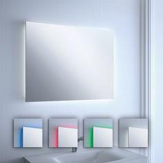 espejo bao con luz led colores
