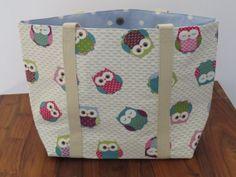 Handmade womens shopper in a cute owl design