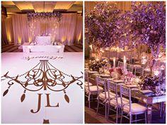 aboutdetailsdetails.com | Roberto Valenzuela Photography | OC Wedding | OC Wedding Planner | Ritz-Carlton Laguna Nigel Wedding | Lavender Wedding | Wedding Reception | Tall and Low Centerpieces | Hand Painted Silver and Gold Trees