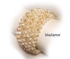 beaded bracelet Honey free shipping worldwide by Beadamor on Etsy