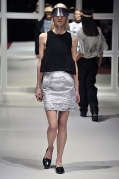 Look Airplane Blouse with Roadie Skirt Lace Skirt, Sequin Skirt, London College Of Fashion, Fall Winter, Autumn, Airplane, Ready To Wear, Mini Skirts, Blouse