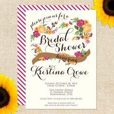 Vintage Carolina Bridal Shower Invitation by YellowBrickGraphics, $20.00