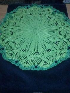 Chaleco circular en tonos verdes