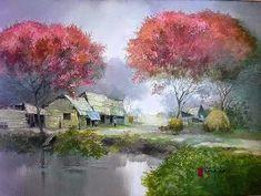 Нежная живопись вьетнамского художника Dang Van Can - Ярмарка Мастеров - ручная работа, handmade