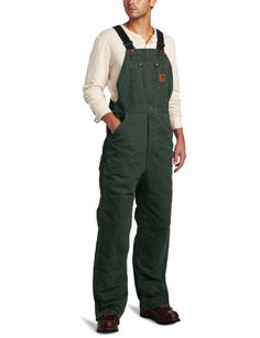 Amazon.com: Carhartt Men's Quilt Lined Sandstone Bib Overall R27: Overalls And Coveralls Workwear…