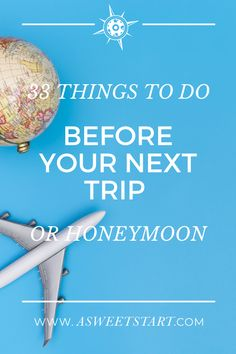 Check off this list of 33 things before leaving on your next trip. #travel #traveling #travelinspo #traveltips #traveladvice Romantic Honeymoon Destinations, Honeymoon Spots, Travel Advice, Travel Tips, Travel Size Toiletries, Sustainable Wedding, Travel Themes, Wedding Planning Tips, Travel Agency