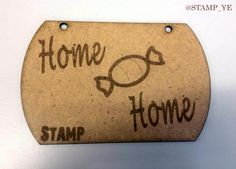 "One of most recent #prototypes with the caption ""#Home #Sweet #Home"" - We think that this will work well with some great #patterned #ribbon ! #Fun #Cute #Quirky"
