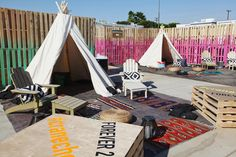 Teepee tents have become a key motif at Coachella events, and Forever 21's bash used them to anchor seating groups. Furniture and decor, spr... Photo: Courtesy of Forever 21