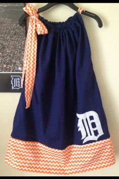Detroit Tigers Dress by DressesbyMaddie on Etsy, $25.00