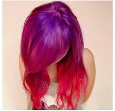 Pink and purple hair love it