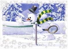 Tennis Christmas Cards--a little late but great for next year!