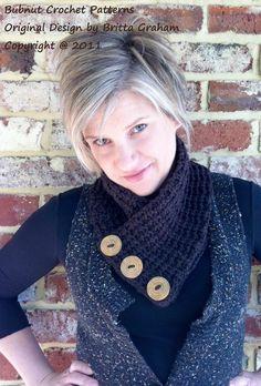 Chunky Short Scarf - Crochet Pattern No.509 via Etsy