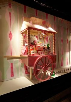 Props Studios made and painted a candyfloss cart in distressed timbers with realistic detailing for the Fairground theme.