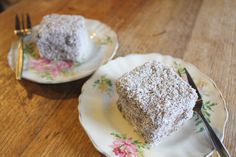 Vegan Jam Filled Coconut Lamingtons