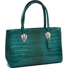Dasein Sleek Patent Croco Shoulder Bag $47.99