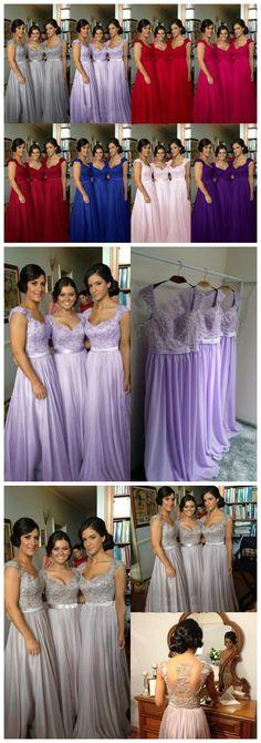 cap sleeve bridesmaid dresses, lace bridesmaid dress, grey prom dress, dresses for wedding, chiffon bridesmaid dresses #wedding #bridesmaid #bridesmaids #bridesmaiddress