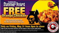 FREE Orange Chicken at Panda Express (Tonight Only)