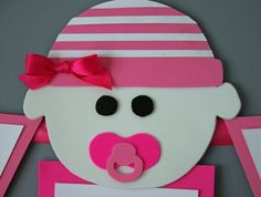 Girl Baby Shower Banner made from  paper & a ribbon~Ideas