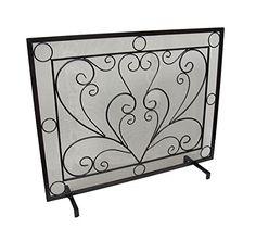 Black Scroll Design Panel Wrought Iron Metal Fireplace Screen Zeckos http://www.amazon.com/dp/B012XY3HRS/ref=cm_sw_r_pi_dp_gqW7vb1G4ZP29