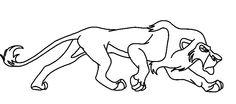 stalking lion drawing - Google Search