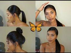 Slaying Ponytails w/ Wigs using Got 2b Glued - WowAfrican Silky Straight Brazilian Wig - YouTube