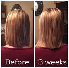 "Wow!! A whole 1 1/2"" growth in just 3 weeks using MONAT's S3 supplement!! Trying to grow your hair out? Want the best and safest products on the market? Monat!!"