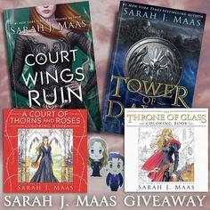 Sarah J Maas Books & Bookmarks Giveaway