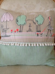 French Country Pillow Cover for Girl BEBE by ParisLaundryDesigns, $49.00