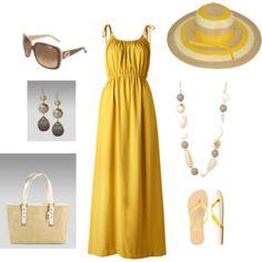 Yellow Maxi Summer