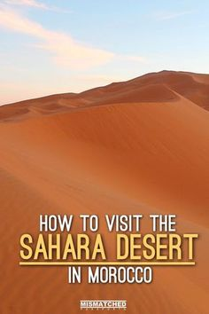 A visit to the Sahara Desert is one for the bucketlist. The best place to experience the Sahara desert is in the orange sand dunes of Erg Chebbi in Morocco. From camel treks to camping in the desert, the experience will truly take your breath away.