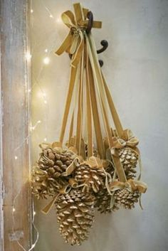 Diy christmas wreaths 426786502180034854 - Pinecone Drop from Soft Surroundings Source by hmiryam Pine Cone Christmas Decorations, Christmas Pine Cones, Diy Christmas Ornaments, Homemade Christmas, Rustic Christmas, Christmas Wreaths, Christmas Tree, Pine Cone Crafts, Christmas Projects