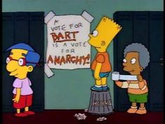 A vote for Bart is a vote for Anarchy Light Cinema, Teen Romance, World Of Gumball, Chroma Key, Batman, Homer Simpson, Futurama, Music Tv, Best Tv