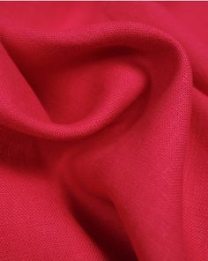 A medium weight pure linen fabric in a vibrant hot pink shade. This natural fabric is perfect for light-feeling, breathable summer clothing. Viscose Fabric, Linen Fabric, Fashion Studio, Hot Pink, Summer Outfits, Summer Clothing, Pure Products, Vibrant, Clothes