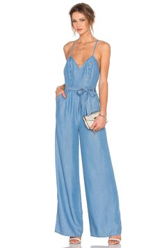 Lovers + Friends Sunshine Jumpsuit in Ocean Denim Jumpsuit, Overalls, Lovers  And Friends, 5d7a7f5463