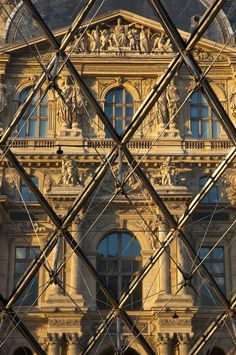The Louvre #Paris #France looking through the glass Pyramid