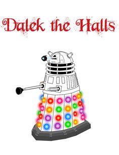 Dalek Doctor Who Christmas Card by behindthecellardoor on Etsy, $3.00