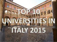 Best University, In 2015, Italia, Universe