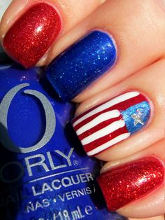 Patriotic Nails,  fourth of july, 4th of july, flag day, presidents day