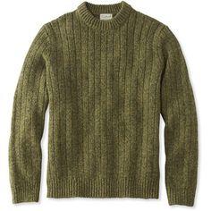 L.L.Bean Classic Ragg Wool Sweater, Rib-Knit Crewneck