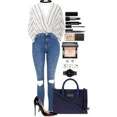 Untitled #1542 by fabianarveloc on Polyvore featuring moda, Free People, Topshop, Christian Louboutin, Diane Von Furstenberg, The Horse, Miss Selfridge, H&M, Givenchy and NARS Cosmetics