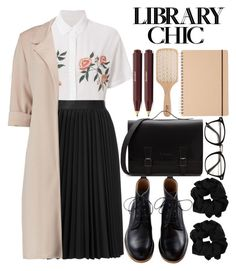 """""""Cute librarian."""" by ra-nana ❤ liked on Polyvore featuring Rails, Astraet, Philip Kingsley and library"""