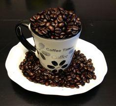 Beautiful fresh roasted coffee beans. Nothing like it! Brazil Mogiana.