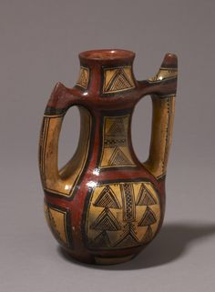 Ewer - Victoria & Albert Museum - Search the Collections Walking On Glass, Wood Stone, North Africa, Culture, Handmade Pottery, Earthenware, African Art, Cool Artwork, Ceramic Pottery