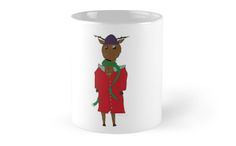 Mugs: Diego the Deer in Winter by Sebastian May: part of the official range of special 'Yellow Bird' merchandise. Now available on society 6. :)
