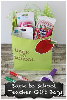 Back to School Teacher Gift Bags #SIMPLEGiving #LetsBond #ad