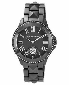 Vince Camuto Watch, Women's Gunmetal Tone Stainless Steel Bracelet 35mm VC-5049GYGY