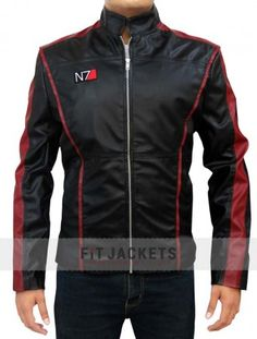 """The #MassEffect3 #N7 #Jacket from the #famous #video #game """"Mass Effect 3"""" now available in precise #design and #excellent features only at fitjackets.com. Grab this classy #winter #costume and get amazing #offers with easy exchange and many more!! #BlackFriday #Sale #Amazon #Deals #Clothing #Fashion #Style"""