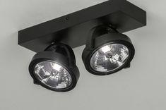 artikel 73579 Moderne, trendy spots voor aan het plafond! Deze industriële plafondspots zijn uitgevoerd in een mat zwarte kleur en voorzien van een reflecterende binnenzijde. De afwerking is robuust en degelijk. De twee spots zijn zowel draai- als kantelbaar zodat u de lichtbundels naar wens kunt richten. Door de G9 aansluiting zijn deze spots eenvoudig te gebruiken met vervangbaar led. Mocht u de spots willen dimmen dan dient u een Tronic leddimmer te gebruiken. Open Trap, Led Dimmer, Ceiling Spotlights, Wall Lights, Ceiling Lights, Track Lighting, Light Bulb, Lightning, Modern Ceiling