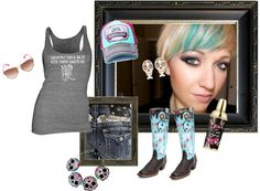 """barrel racing"" by deliriouslypink on Polyvore"