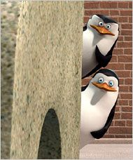 "Penguins of Madagascar...  ""...back away from the kitty...smile and wave boys- smile and wave..."""